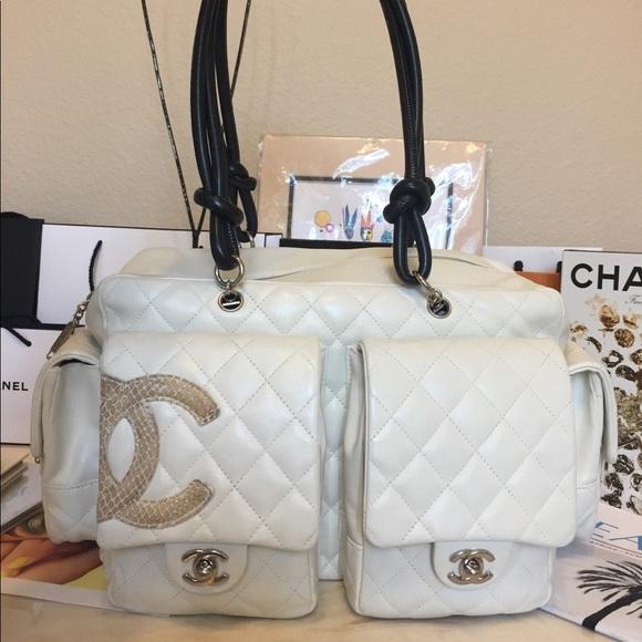 CHANEL Handbags - ❤️TRADED❤️Chanel XL cambon Reporter python CC